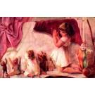Praying Teddy Bear Krampus Girl Dolls