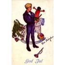 Boy Holding Popping Up Black Doll Golliwog