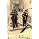 Girl between Two Chimney Sweeps