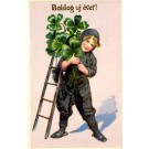 Girl Chimney Sweep Holding Shamrocks