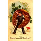 Chimney Sweep with Huge Horseshoe New Year