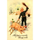 Chimney Sweep Making Piglet to Jump