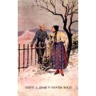 Chimney Sweep Talking to Girl New Year