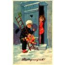 Girl Chimney Sweep by Door