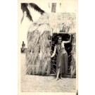 Hula Girl by Grass Shack Real Photo