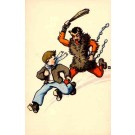Krampus Running After Boy