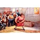 Men Looking at Bowling Woman at Pub
