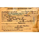 Motorcycle Registration Card