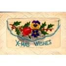 Embroidered Silk Christmas French