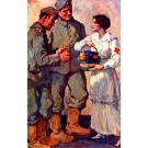 Nurse with Fruits Soldiers WWI