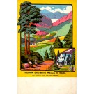 Trefriw Wales Resort Travel Poster
