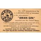 Advert Swan Gin Pioneer NYC