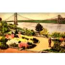 Washington Bridge Water-Color NYC