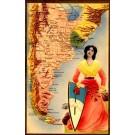 Argentina Map Real Photo Novelty