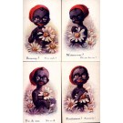 Black Woman Camomile French Set