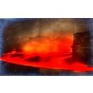 Volcano Lava Real Photo