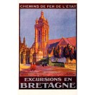 Bretagne Church Travel Poster French