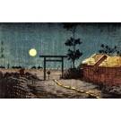 Village Moon Night