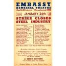 Advert Embassy Theatre Strike Closes Steel