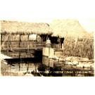 Seminole Indian Camp Real Photo FL