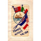 Battleship Embroidered Silk WWI