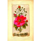 Woven Silk Rose Greeting