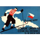 Skiing Race 1935 Czechoslovakia