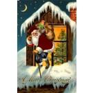 Santa Claus Silk Robe Train Novelty