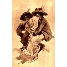Girls Hat Art Nouveau Fisher