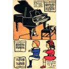 Sheet Music Piano Paper DollsNovelty
