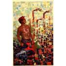 Male Nude Hammer Mosaic Communist