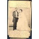 Marriage Real Photo Cabinet Card Postcard MO