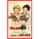 Advert Lion Noir Shoe Polish Children