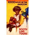Advert Steamship Trip & Parrot Novelty