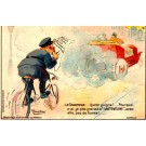 Advert Gasoline Bicycle Auto French