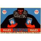 Advert Purfina Oil Auto Race Belgian