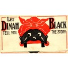 Advert Dinah Black Enamel Novelty