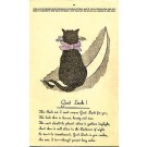 Advert Black Cat Luminating Novelty