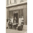 French Cafe Musicians Real Photo