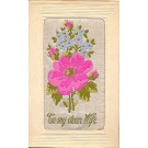 Flowers Woven Silk Novelty French