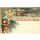 1900 Christmas Greeting Romania