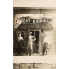 Meat Market Store Front Real Photo