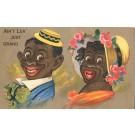 Comic Black Americana Couple