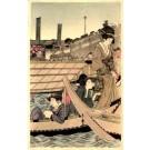 Japanese Art Nouveau Boat Girls