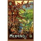 Merano Castle Italian Travel Poster