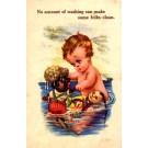Ore Golliwog Doll Bathing