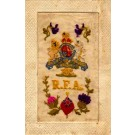 Embroidered Silk Lion RFA Crown WWI