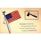 Ax Flag Washington Patriotic Novelty