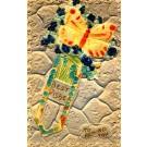 Butterfly Violets Novelty Bookmark