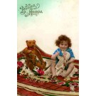 Teddy Bear Doll Rose RP Hand-Tinted